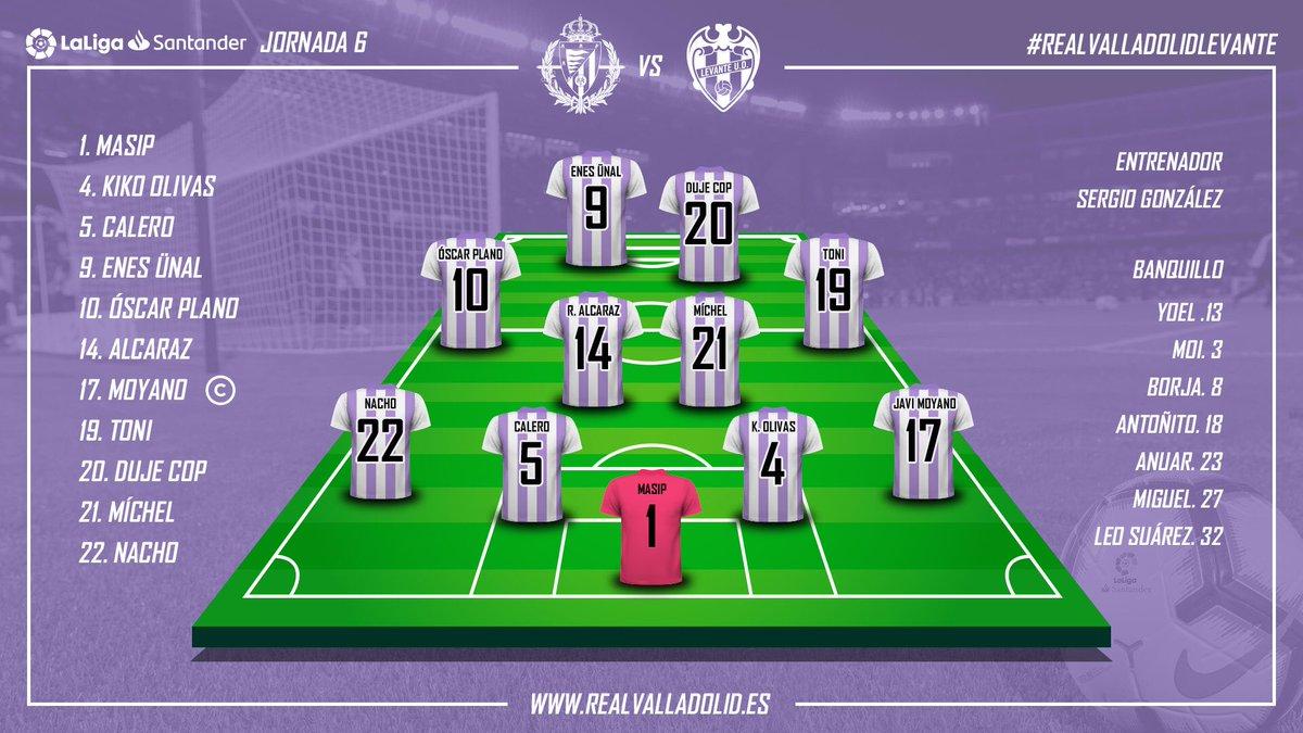 Real Valladolid - Levante U.D. Jueves 27 de Septiembre. 20:00 Alineacion_vs_Levante