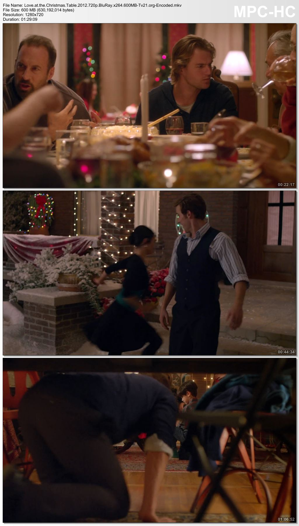 Love At The Christmas Table.Love At The Christmas Table 2012 720p Blu Ray X264 600 Mb