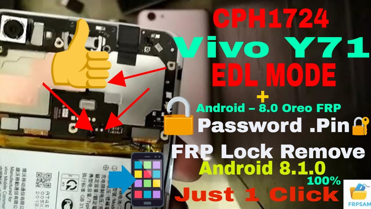 vivo y71 ( 8 1 oreo ) screen lock&frp lock remove successfully with
