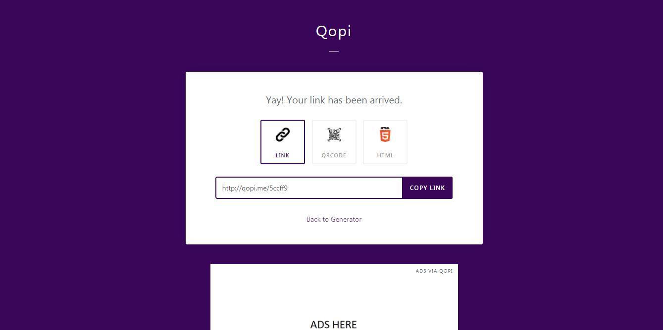 Qopi - WhatsApp and Short Link Generator - 2