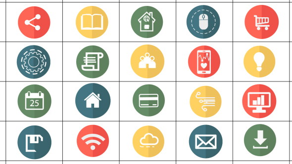 Internet Of Things Elements and Icons