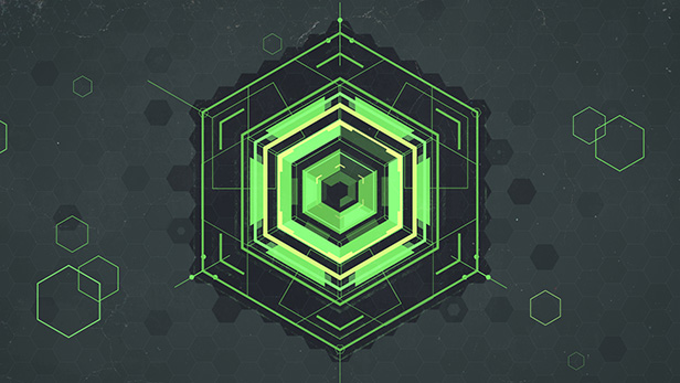 Hexagon Geometric Logo - 12