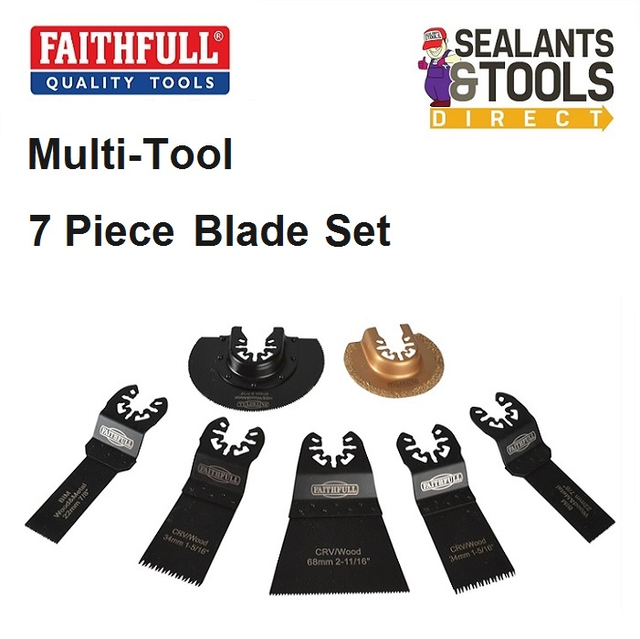 Faithfull Multi Tool Blade Set XMS18MTSET7