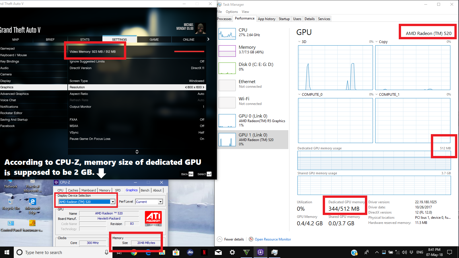Why Dedicated Vram Of 2 Gb Is Not Being Used By The Discrete Gpu Only 512 Mb Being Used Just Like Mine Integrated Gpu Does Tom S Hardware Forum