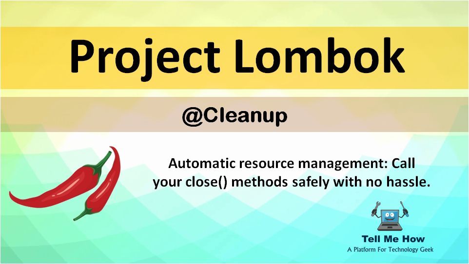 Features of Project Lombok - Cleanup