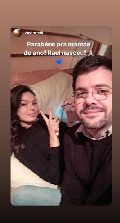 Rael nasceu! O primeiro filho de Isis Valverde e André Resende acaba de chegar ao mundo