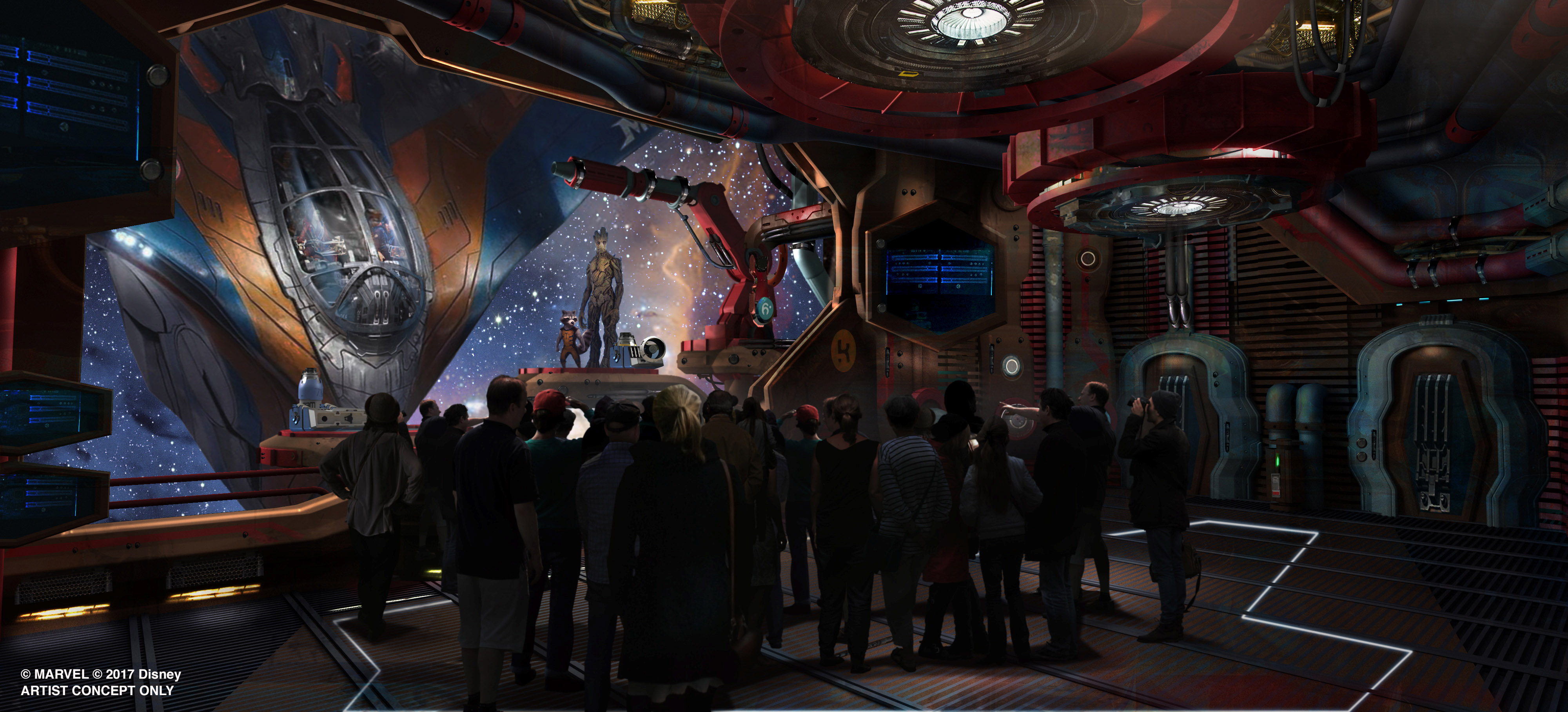 Guardians of the Galaxy ride Epcot