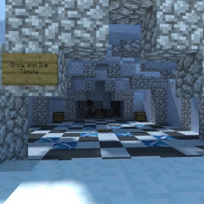 Ice temple interior render