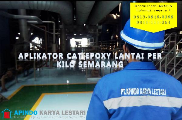 aplikator cat epoxy lantai per kilo semarang