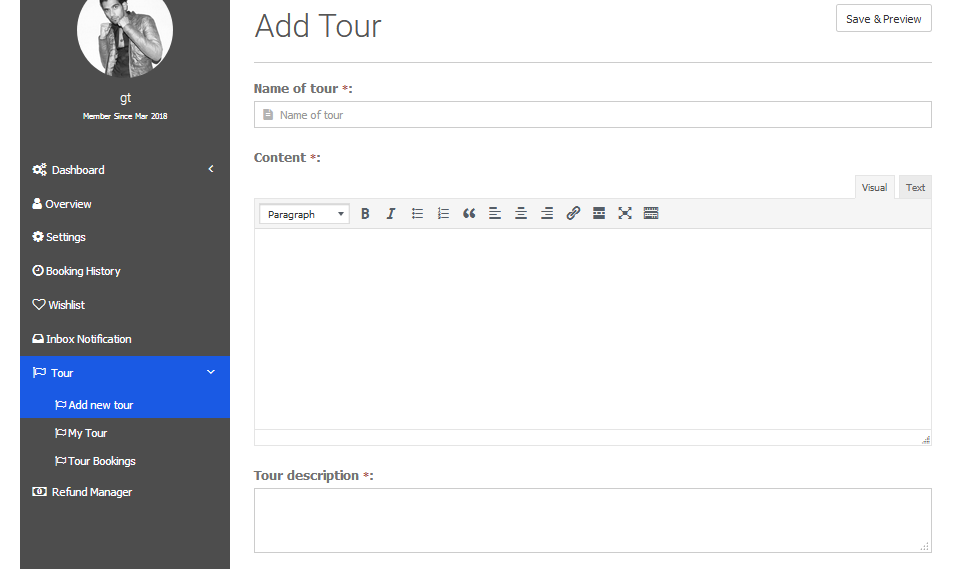 This is the Users Frontend Dashboard - i need the checkbox options to show here too