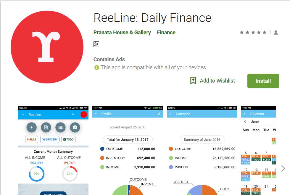 ReeLine sekarang ada di Google Play Store