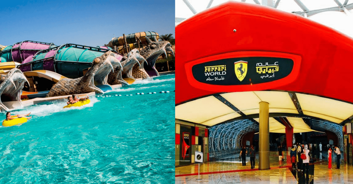 Ferrari & Yas Water World Combo with Meal and Transfer