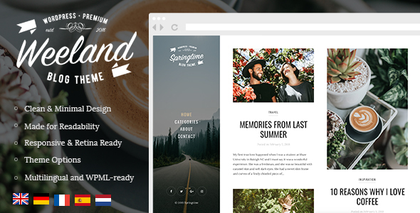 Weeland v1.2.1 - Masonry Lifestyle WordPress Blog Theme