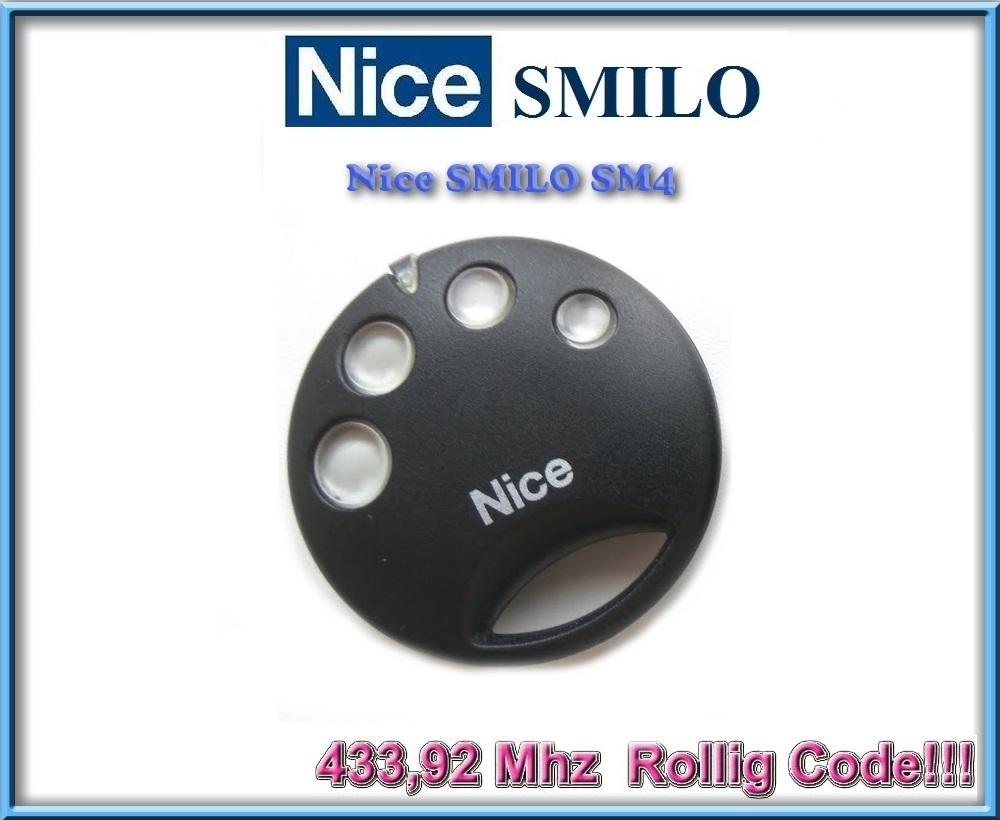 Nice SMILO SM2 SMILO SM4 replacement remote control 433,92Mhz Rolling code