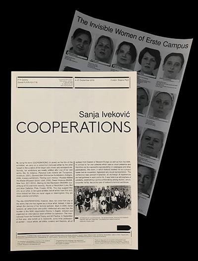 Rafaela Drazic Sanja Ivekovic newspapers PARASITE Ljubljana