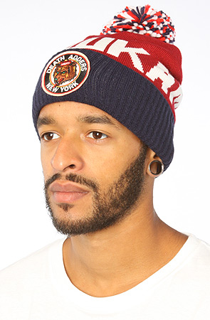 MISHKA X NEW ERA THROWBACK ADDER POM BEANIE BURGUNDY AUTHENTIC ... bab08be0cfa