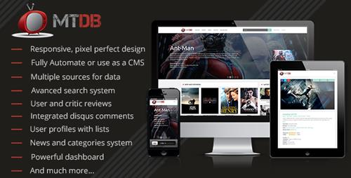 CodeCanyon - MTDb v2.9.4 - Ultimate Movie&TV Database