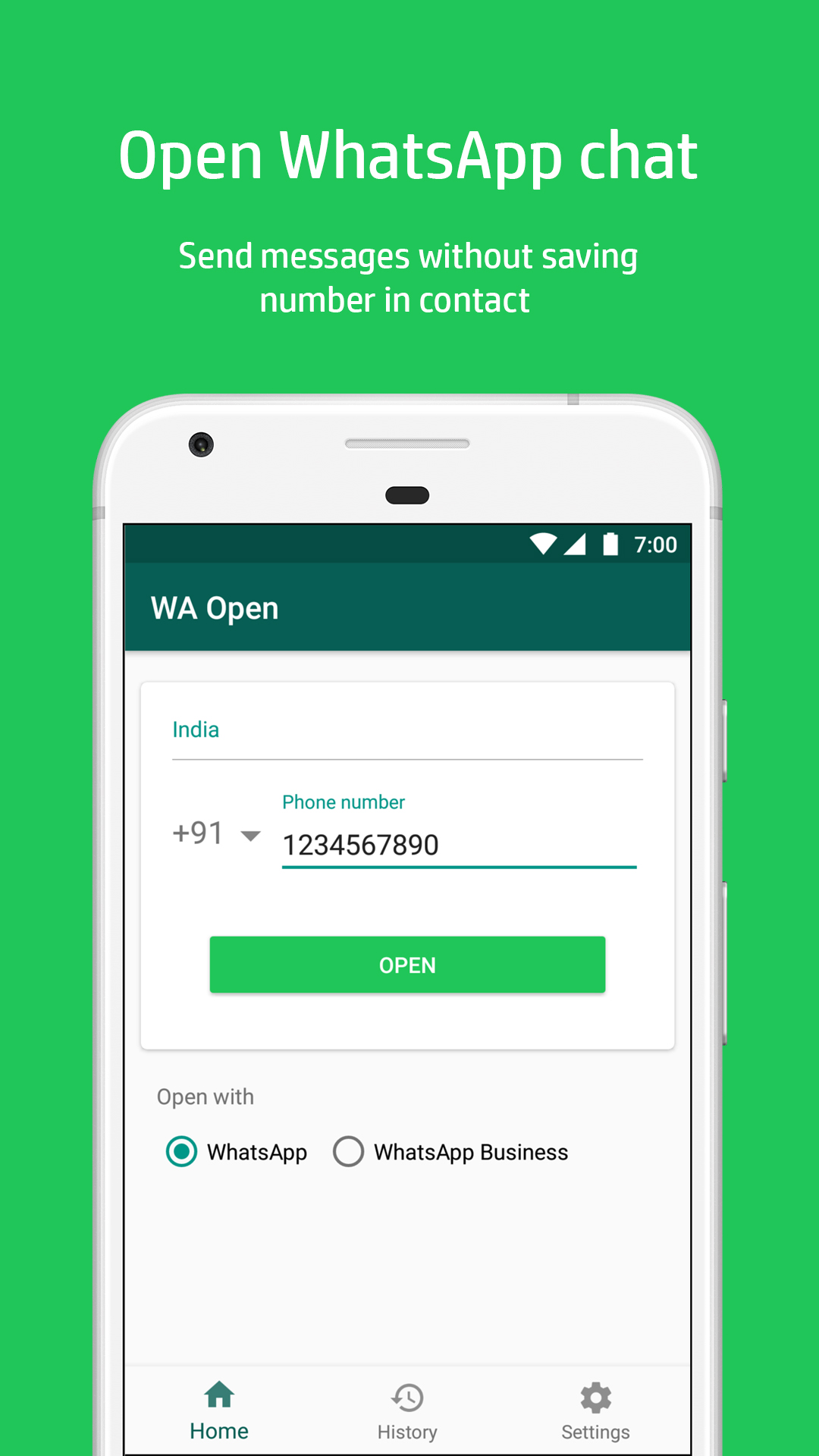 App][5 0+] WA Open for WhatsApp™ | Android Development and