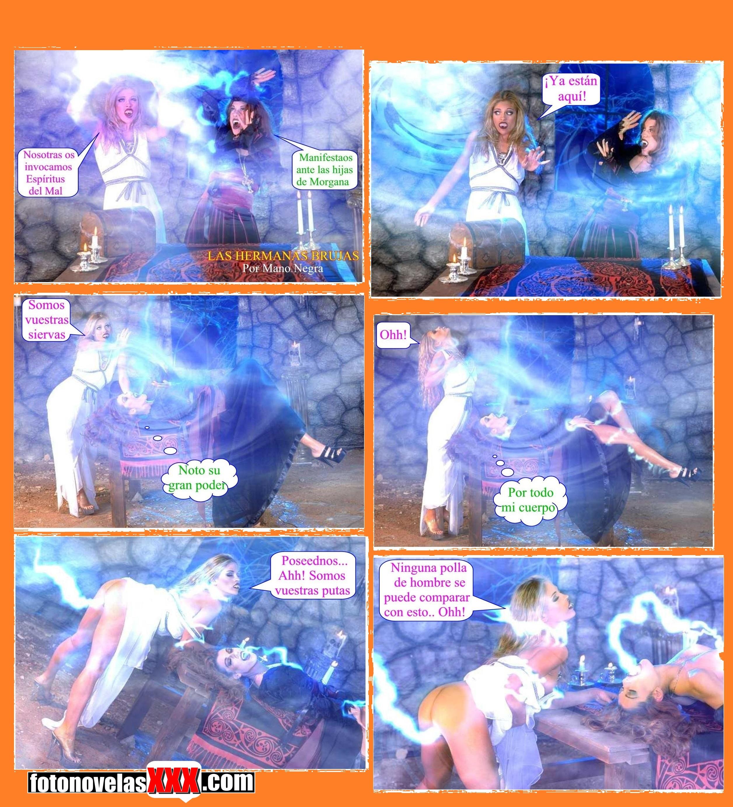 las hermanas brujas fotonovela pag1