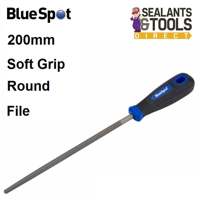 Blue Spot Soft Grip Round Tapered Rats Tail File 22657
