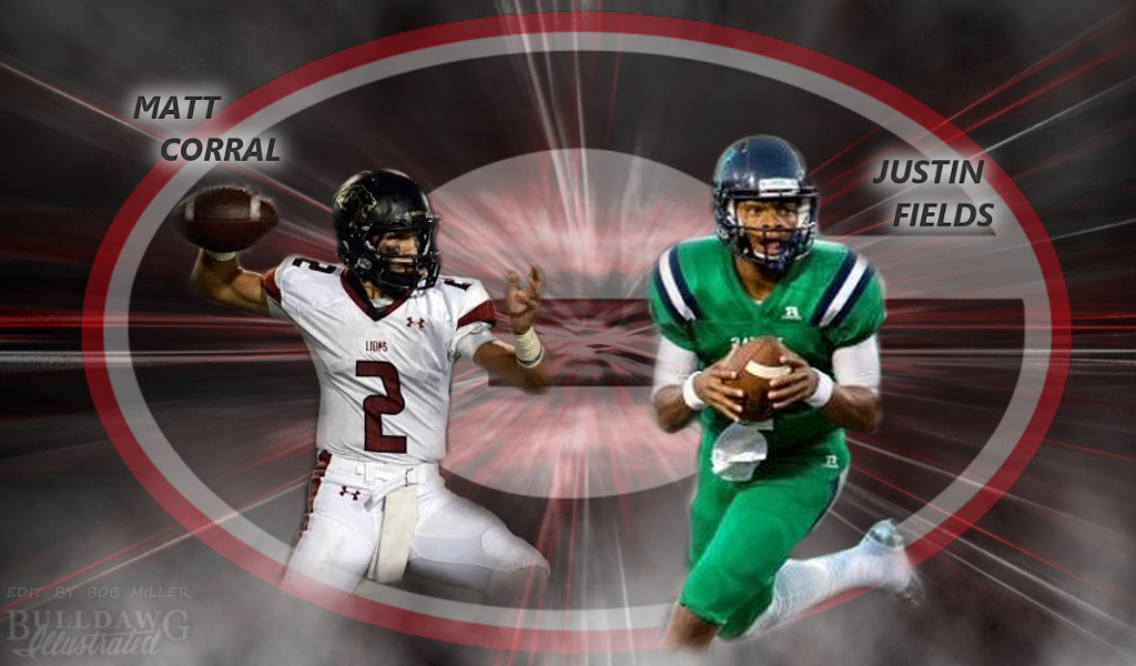 Matt Corral and Justin Fields edit by Bob Miller/Bulldawg Illustrated