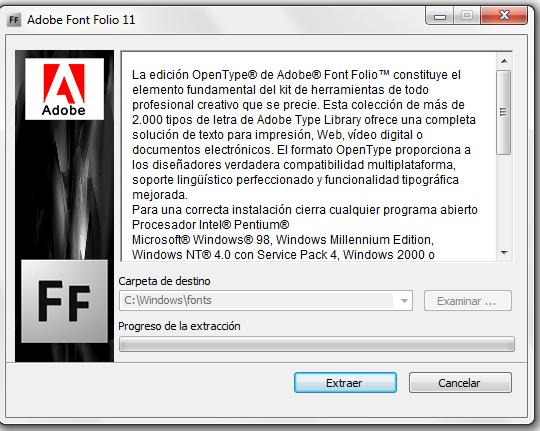 Descargar Adobe Font Folio 11 full español mediafire 1 link