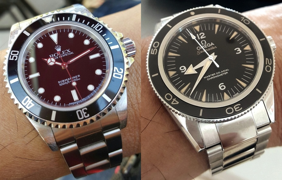 Rolex Sub 14060 U Series and New Omega Seamaster 300