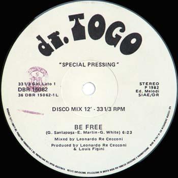 (Italo-Disco, Disco) [12] [24 / 88.2] Dr. Togo - Be Free - 1982, FLAC (tracks)