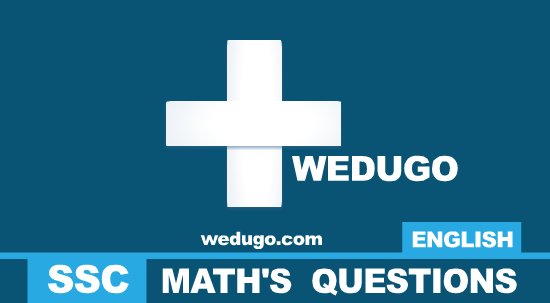 Maths Questions  in english for ssc exams part 1
