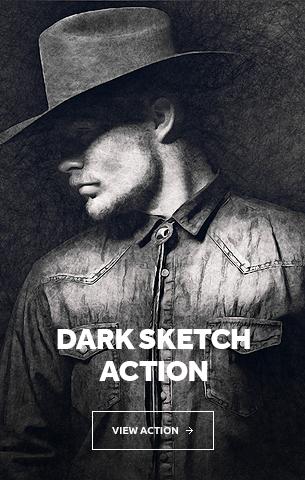 Dark Sketch Photoshop Action