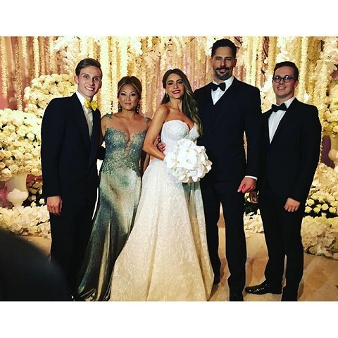 Sofia Vergara and Joe Manganiello on their wedding