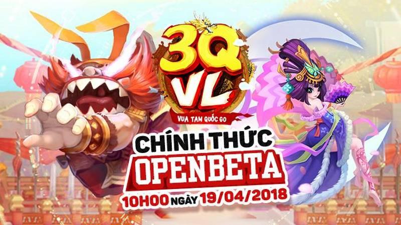 """3QVL - game Đẩy Tướng ấn định ra mắt 19/4, rải """"thính"""" 500 GiftCode"""