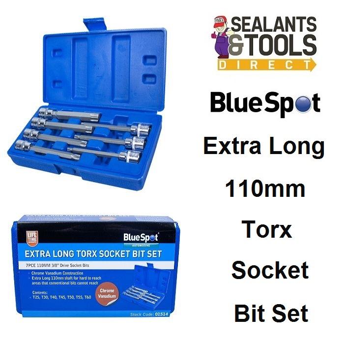 Blue Spot Torx Extra Long Socket Bit Set 01514