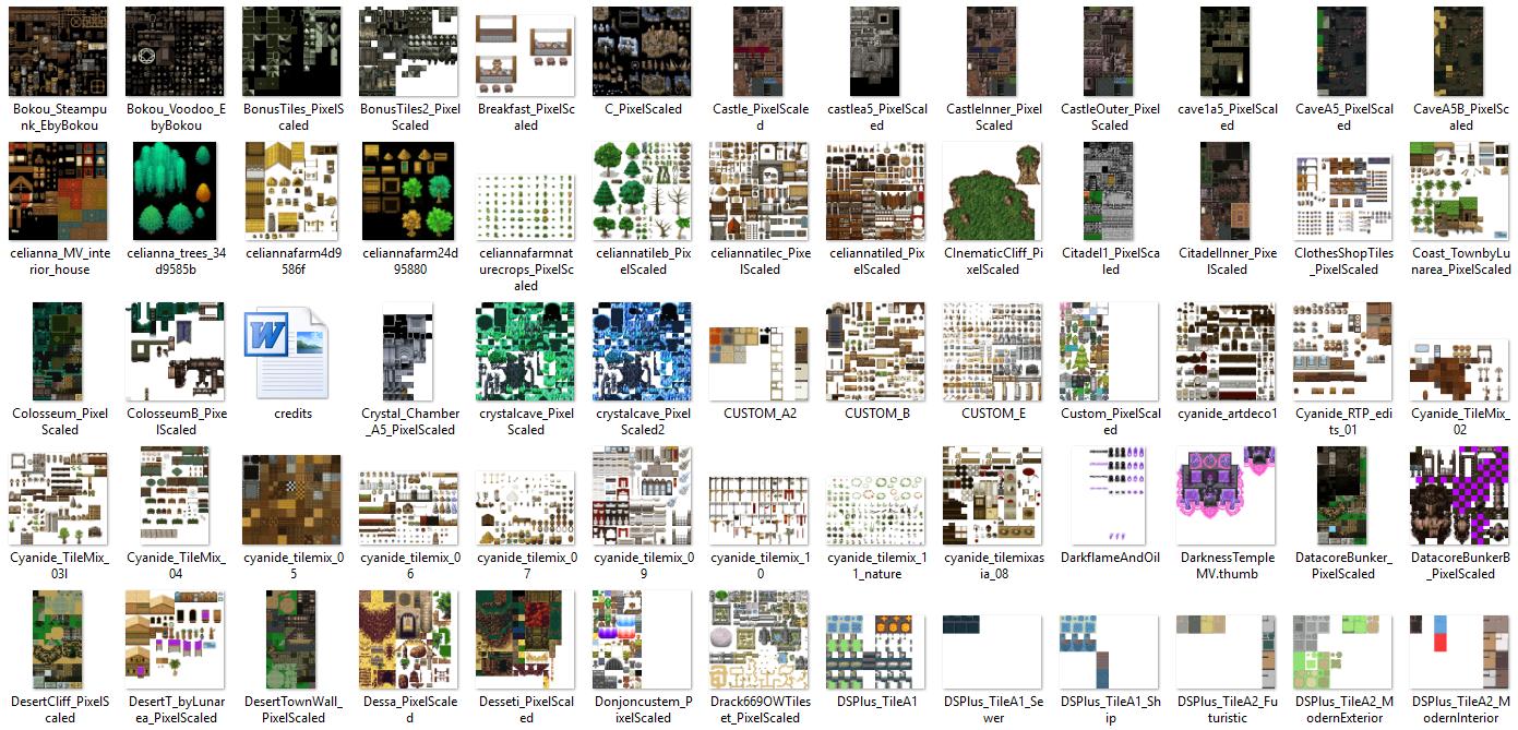 1350 Tilset varié (VX ACE et pour MV) Image6