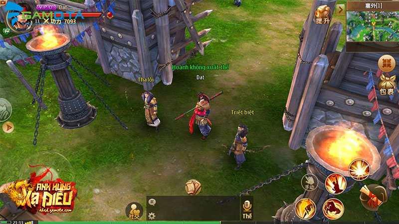 Fan kiếm hiệp kéo nhau chơi thử Anh Hùng Xạ Điêu Gamota, thậm chí còn tự tay Việt hóa
