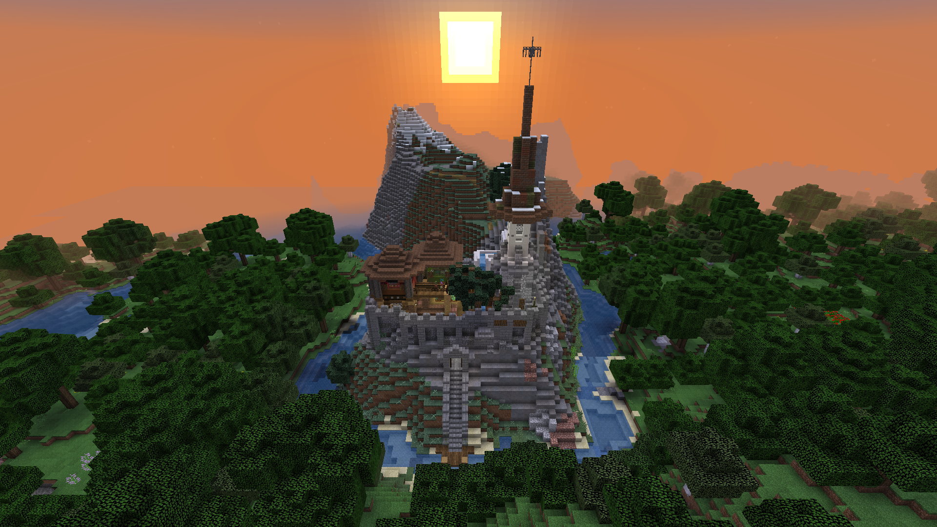Build complete in sunset
