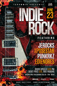 45_indie_rock_flyer