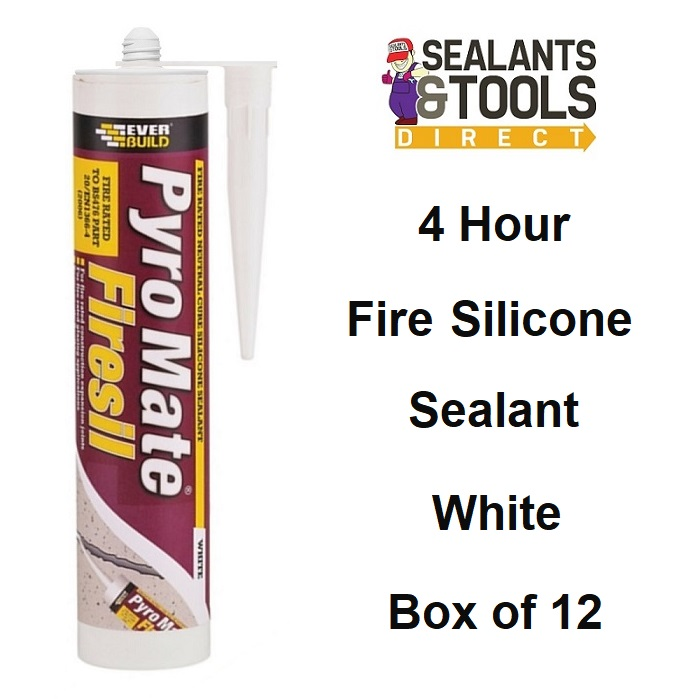 Everbuild Pyro Mate Fire Silicone Sealant White Box of 12 PRYWE
