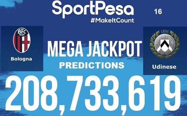 Sportpesatips - Bologna vs Udinese Predictions & H2H:: Sportpesa Mega Jackpot Predictions