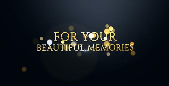 AE模板 唯美时尚金色粒子汇聚相册 Videohive Slideshow 免费下载