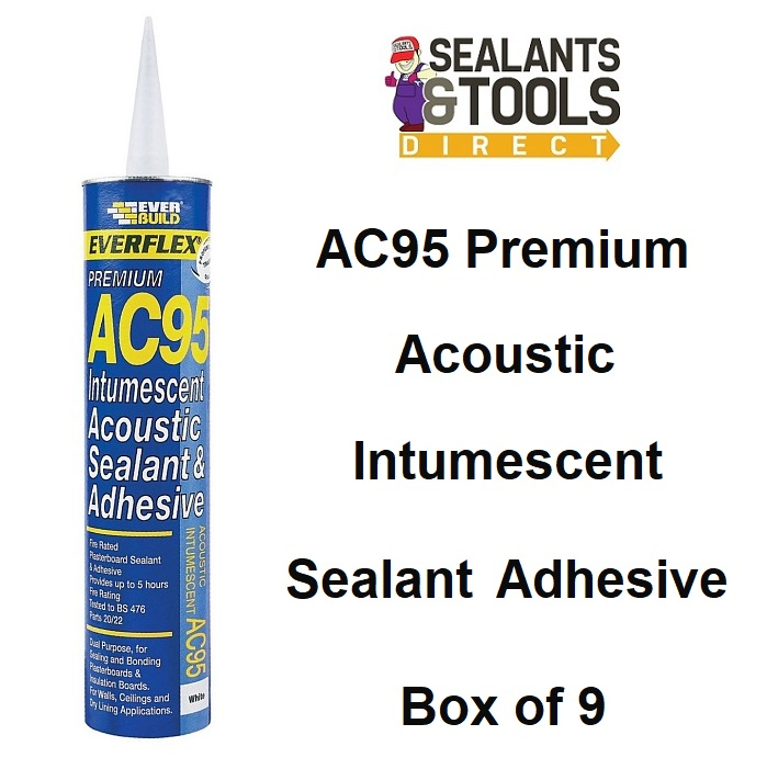 Everbuild AC95 intumescent Acoustic Sealant Adhesive AC95900 Box of 9
