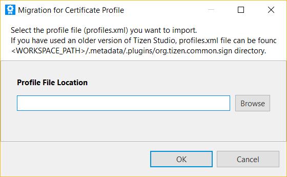 Tizen Studio - Certificate Manager - profiles xml   Tizen