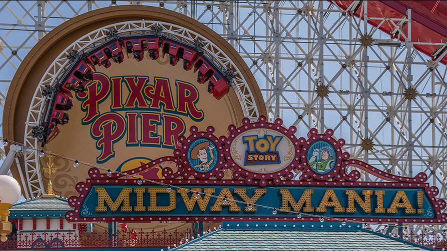 Pixar Pier at Disneyland California
