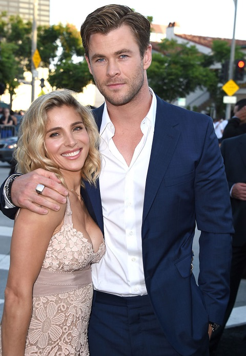 Elsa Pataky with her husband Chris Hemsworth