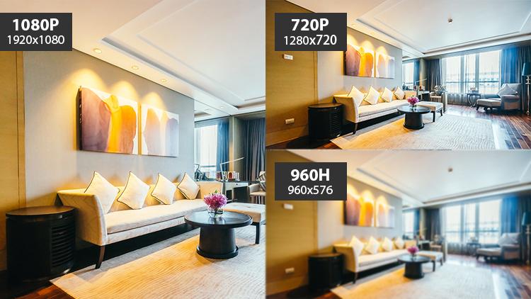 Full HD 1080p and HD 720p Comparison
