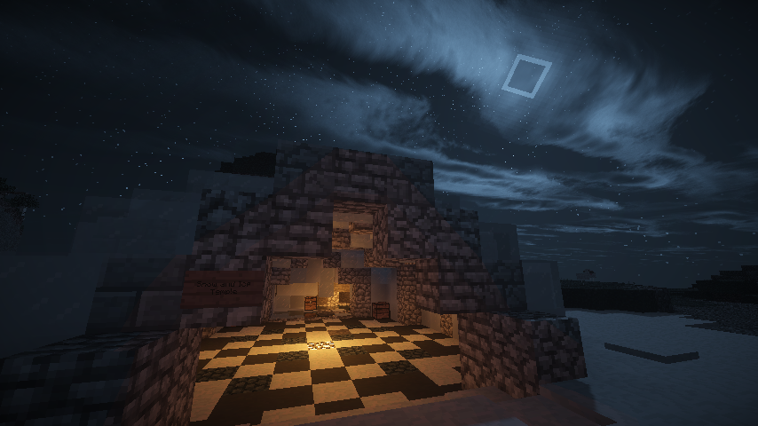 Ice Temple with shaders