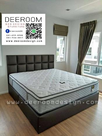 ฐานรองที่นอน แบบมีหัวเตียง เตียงนอน ฐานเตียง บล็อคเตียง เต...