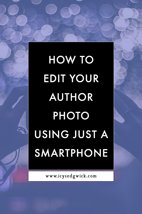 Professional photography is probably out of your budget right now. But grab your smartphone and take your author photo yourself!