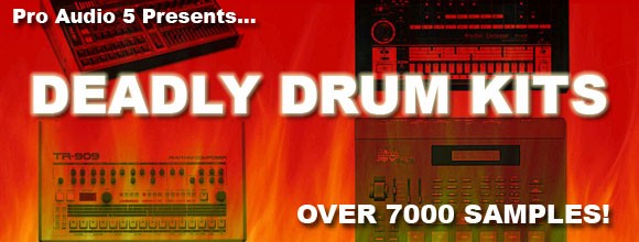 Deadly Drum Kits Over 7000 Drum Machine Samples .wav Sample CD EDM Hiphop RnB