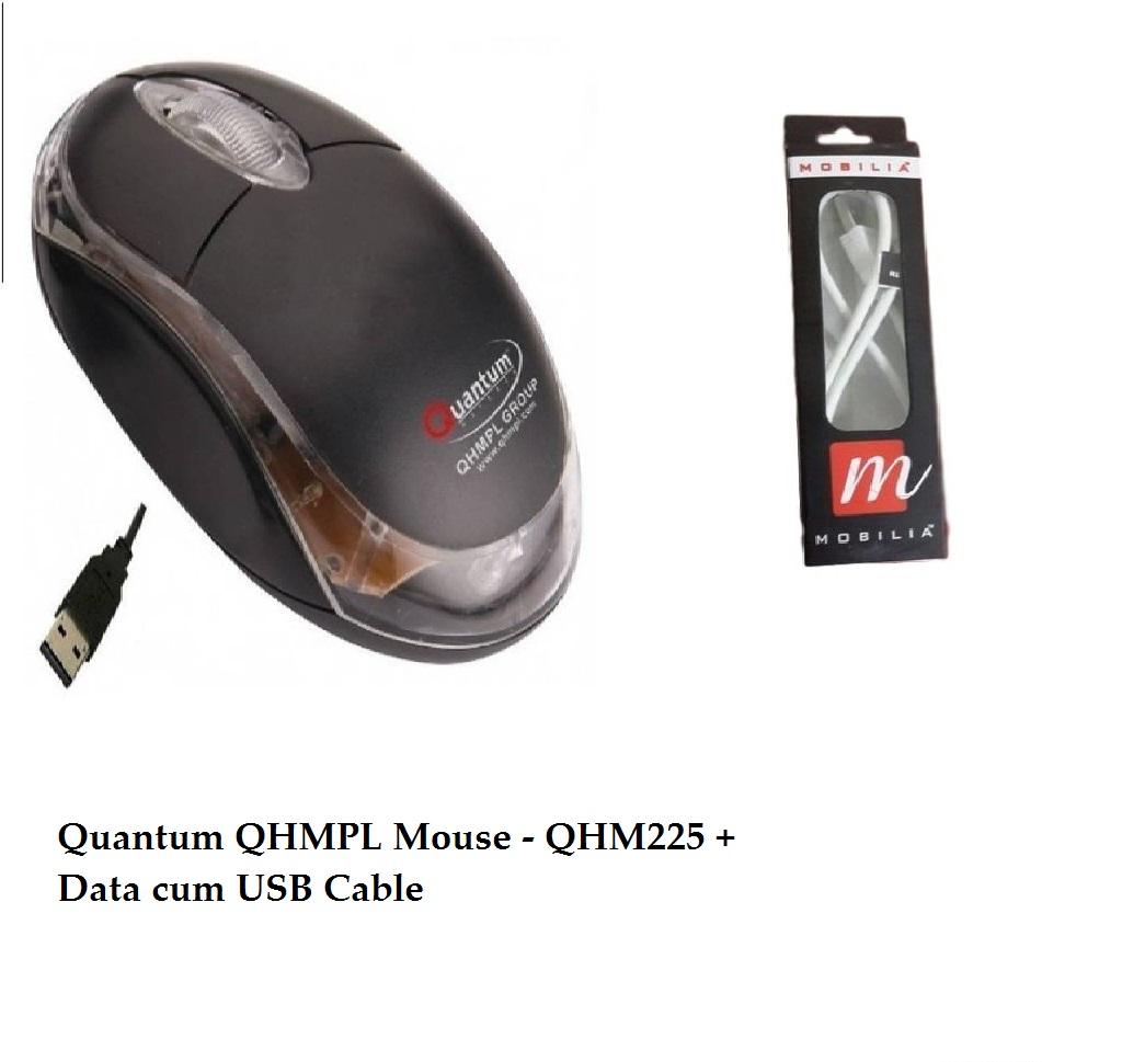 Quantum QHMPL Mouse – QHM222 + Data cum USB Cable
